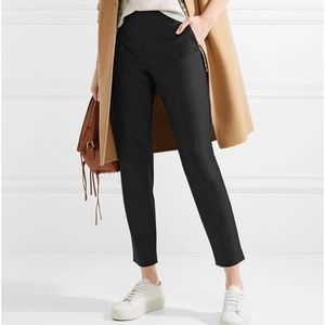 NWT $245 THEORY Thaniel Black Cropped Pull on Pant